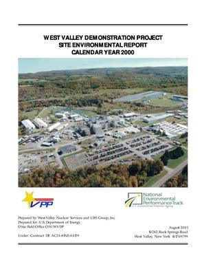 Primary view of object titled 'West Valley Demonstration Project Site Environmental Report Calendar Year 2000'.