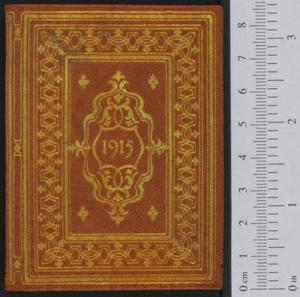 Primary view of object titled '[Calendar for 1915]'.