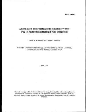 Primary view of object titled 'Attenuation and fluctuations of elastic waves due to random scattering from inclusions'.