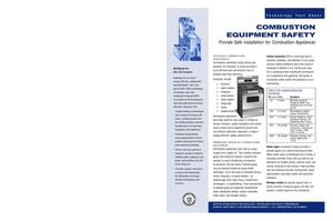 Primary view of object titled 'Combustion Equipment Safety; BTS Technology Fact Sheet'.