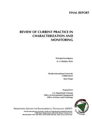 Primary view of object titled 'REVIEW OF CURRENT PRACTICE IN CHARACTERIZATION AND MONITORING'.