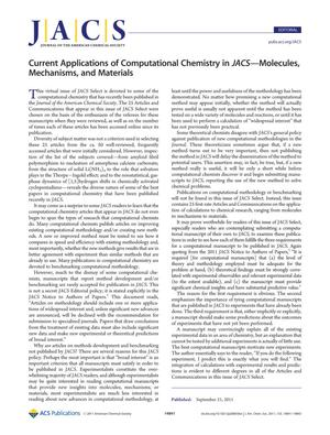 Primary view of object titled 'Current Applications of Computational Chemistry in JACS - Molecules, Mechanisms, and Materials'.