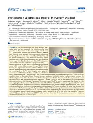 Primary view of object titled 'Photoelectron Spectroscopic Study of the Oxyallyl Diradical'.
