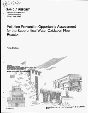 Primary view of object titled 'Pollution prevention opportunity assessment for the supercritical water oxidation flow reactor'.