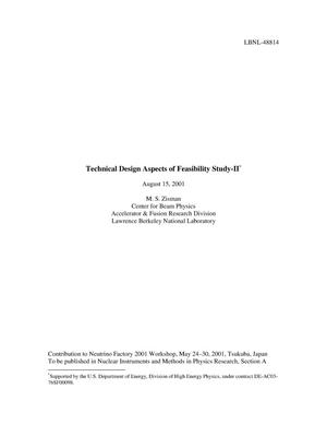 Primary view of object titled 'Technical design aspects of Feasibility Study-II'.