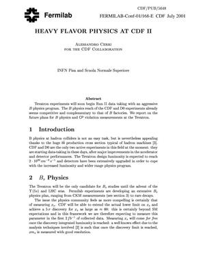 Primary view of object titled 'Heavy flavor physics at CDF II'.
