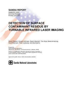 Primary view of object titled 'Detection of Surface Contaminant Residue by Tunable Infrared Laser Imaging'.