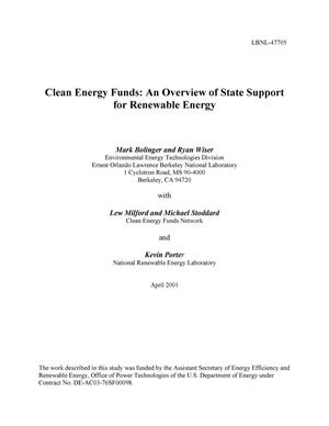 Primary view of object titled 'Clean energy funds: An overview of state support for renewable energy'.