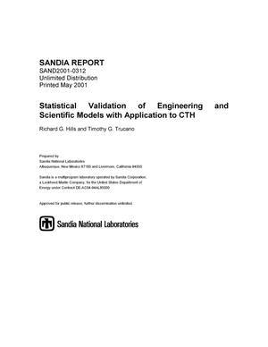 Primary view of object titled 'Statistical Validation of Engineering and Scientific Models with Application to CTH'.