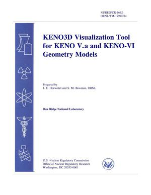 Primary view of object titled 'KENO3D Visualization Tool for KENO V.a and KENO-VI Geometry Models'.