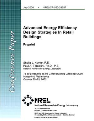 Primary view of object titled 'Advanced Energy Efficiency Design Strategies In Retail Buildings'.
