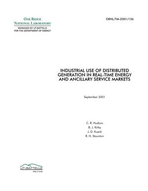 Primary view of object titled 'Industrial Use of Distributed Generation in Real-Time Energy and Ancillary Service Markets'.