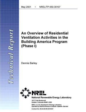 Primary view of object titled 'An Overview of Residential Ventilation Activities in the Building America Program (Phase I)'.