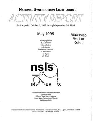 Primary view of object titled 'National Synchrotron Light Source Activity Report 1998'.