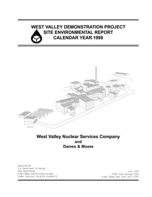 Primary view of object titled 'West Valley Demonstration Project site environmental report calendar year 1998'.
