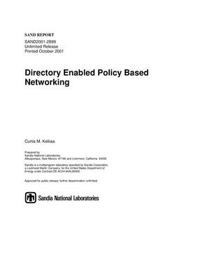 Primary view of object titled 'Directory Enabled Policy Based Networking'.
