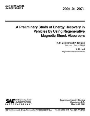 Primary view of object titled 'A Preliminary Study of Energy Recovery in Vehicles by Using Regenerative Magnetic Shock Absorbers'.