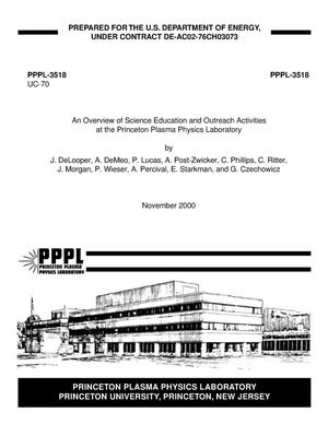 Primary view of object titled 'An Overview of Science Education and Outreach Activities at the Princeton Plasma Physics Laboratory'.