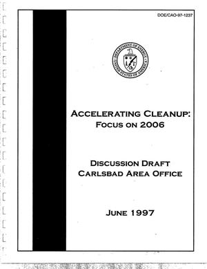 Primary view of object titled 'Accelerating Cleanup: Focus on 2006. Discussion draft'.
