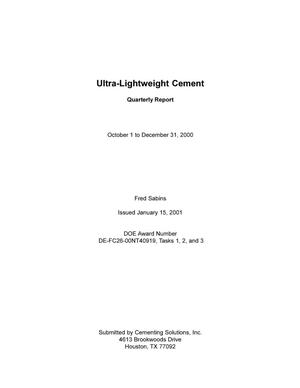 Primary view of object titled 'ULTRA-LIGHTWEIGHT CEMENT'.