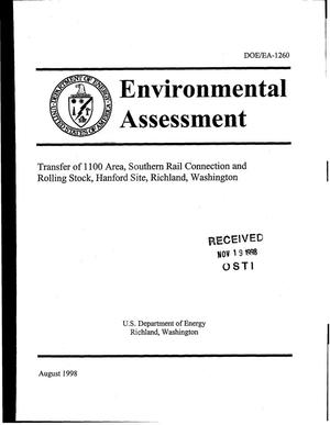 Primary view of object titled 'Environmental Assessment for the Transfer of 1100 AREA, Southern Rail Connection and Rolling Stock, Hanford Site, Richland, Washington'.
