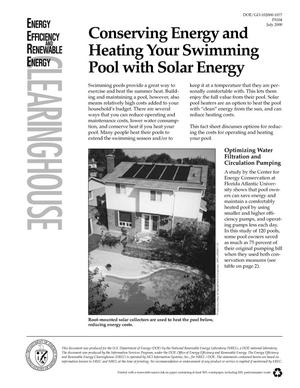 Primary view of object titled 'Conserving Energy and Heating Your Swimming Pool with Solar Energy (EREC Fact Sheet)'.