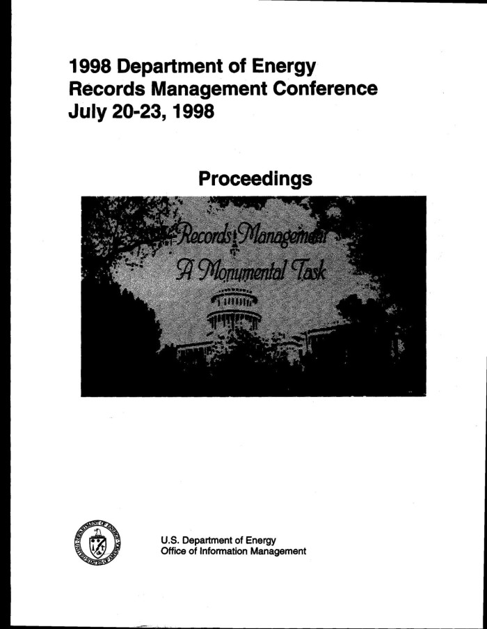 1998 department of energy records management conference july 20 23