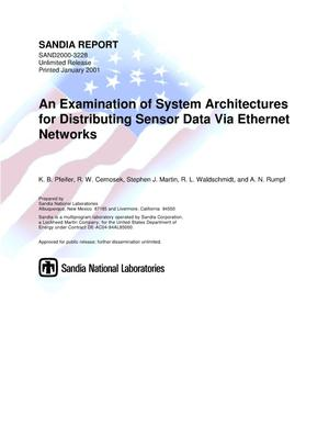 Primary view of object titled 'An Examination of System Architectures for Distributing Sensor Data Via Ethernet Networks'.