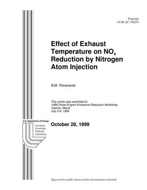 Primary view of object titled 'Effect of Temperature on NOx Reduction by Nitrogen Atom Injection'.