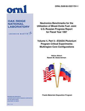 Primary view of object titled 'Neutronics Benchmarks for the Utilization of Mixed-Oxide Fuel: Joint U.S./Russian Progress Report for Fiscal Year 1997'.