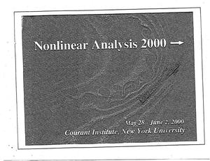 Primary view of object titled 'Nonlinear Analysis 2000 {yields} [proceedings]'.