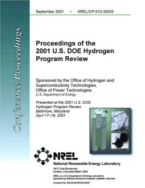 Primary view of object titled 'Proceedings of the 2001 U.S. DOE Hydrogen Program Review'.