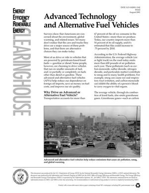 Primary view of object titled 'Advanced Technology and Alternative Fuel Vehicles'.