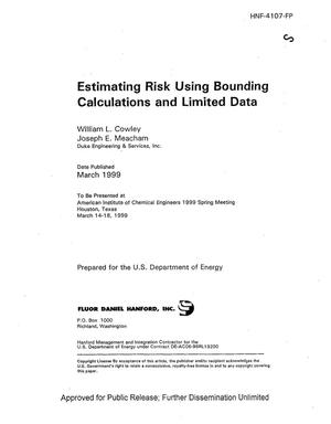 Primary view of object titled 'Evaluating risk using bounding calculations and limited data'.