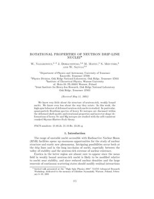 Primary view of object titled 'Rotational Properties of Neutron Drip-Line Nuclei'.