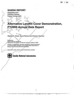 Primary view of object titled 'Alternative Landfill Cover Demonstration, FY2000 Annual Data Report'.