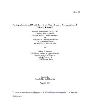 An experimental and density functional theory study of the
