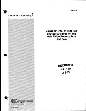 Primary view of object titled 'Environmental monitoring and surveillance on the Oak Ridge Reservation: 1995 data'.
