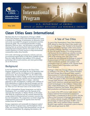 Primary view of object titled 'Clean Cities Goes International: Clean Cities International Program Fact Sheet'.