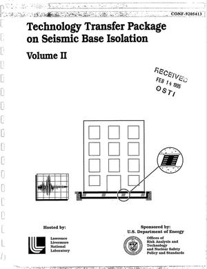 Primary view of object titled 'Technology transfer package on seismic base isolation - Volume II'.