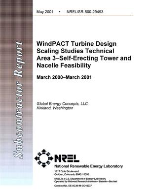 Primary view of object titled 'WindPACT Turbine Design Scaling Studies Technical Area 3 -- Self-Erecting Tower and Nacelle Feasibility: March 2000--March 2001'.