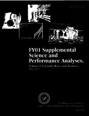 Primary view of object titled 'FY01 Supplemental Science and Performance Analyses, Volume 1: Scientific Bases and Analyses, Rev 00'.