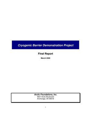 Primary view of object titled 'Cryogenic Barrier Demonstration Project. Final report'.
