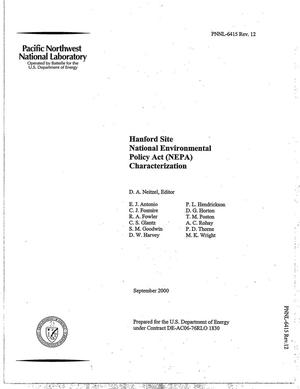 Primary view of object titled 'Hanford Site National Environmental Policy Act (NEPA) Characterization'.