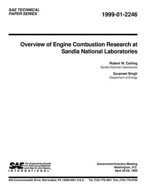 Primary view of object titled 'Overview of Engine Combustion Research at Sandia National Laboratories'.