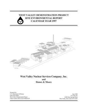 Primary view of object titled 'West Valley Demonstration Project site environmental report, calendar year 1997'.
