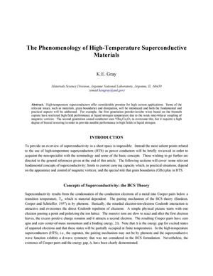Primary view of object titled 'The phenomenology of high-temperature superconductive materials.'.