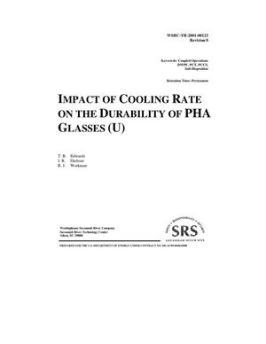 Primary view of object titled 'Impact of Cooling Rate on the Durability of PHA Glasses'.