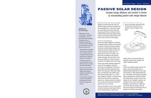 Primary view of object titled 'Passive Solar Design: Technology Fact Sheet; Office of Building Technology, State and Community Programs (BTS)'.