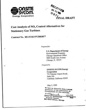 Primary view of object titled 'Cost analysis of NOx control alternatives for stationary gas turbines'.